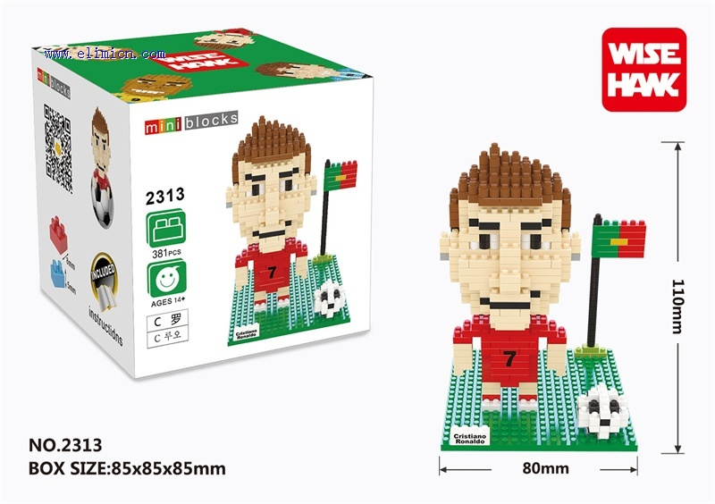 DIY Blocks Football Star C Ronaldo 2313