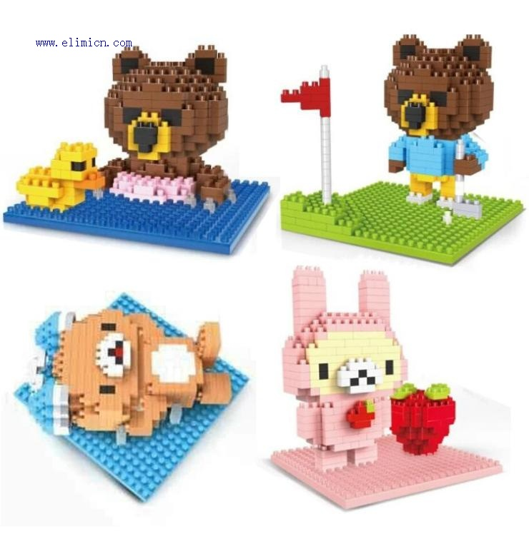 Linkgo Diamond Blocks Bear 9613-9616