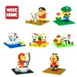 Weagle mini blocks Mario Hellokitty series