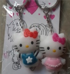 Couple Key Ring Hello kitty